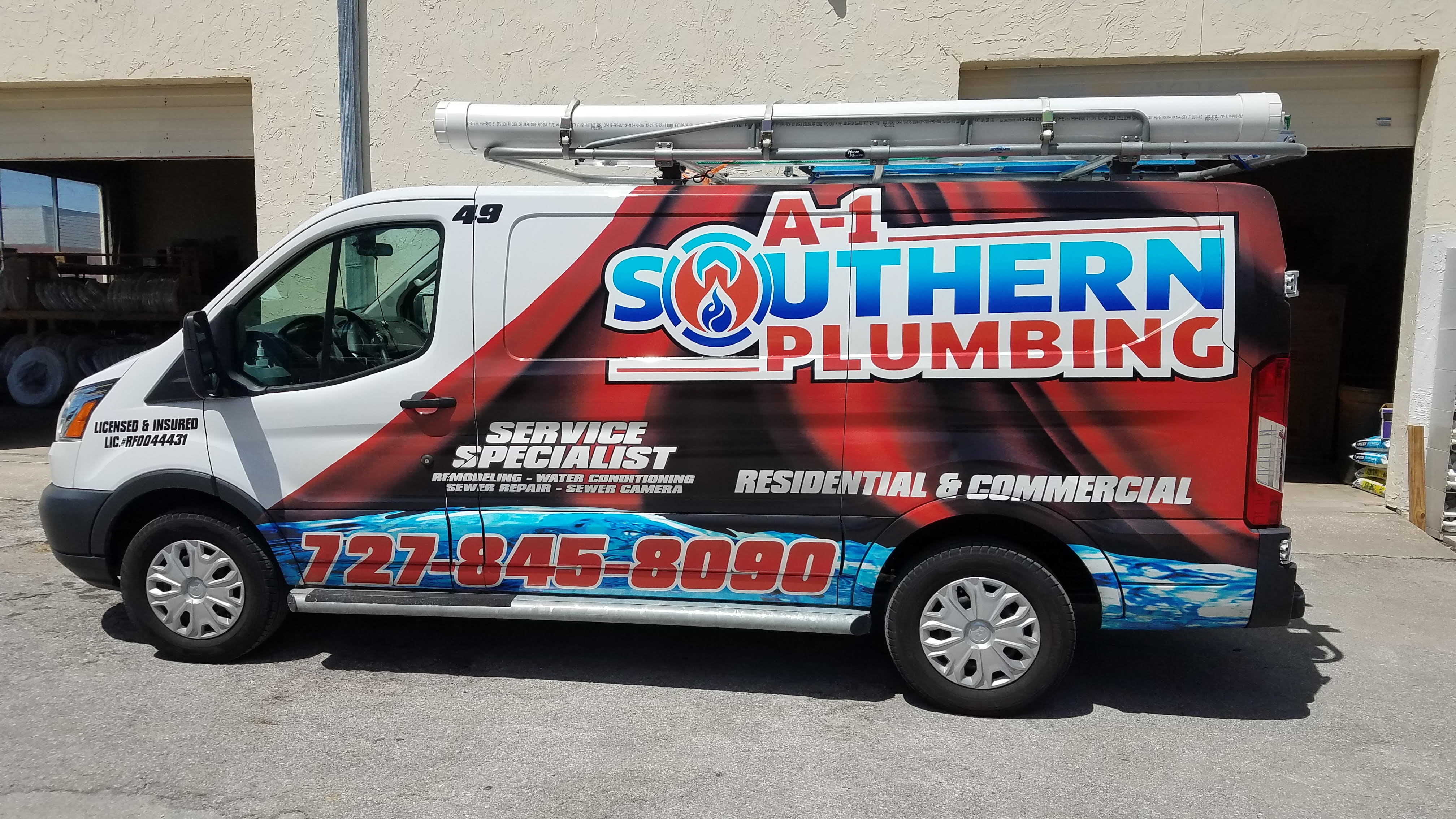 A-1 Southern Plumbing Truck