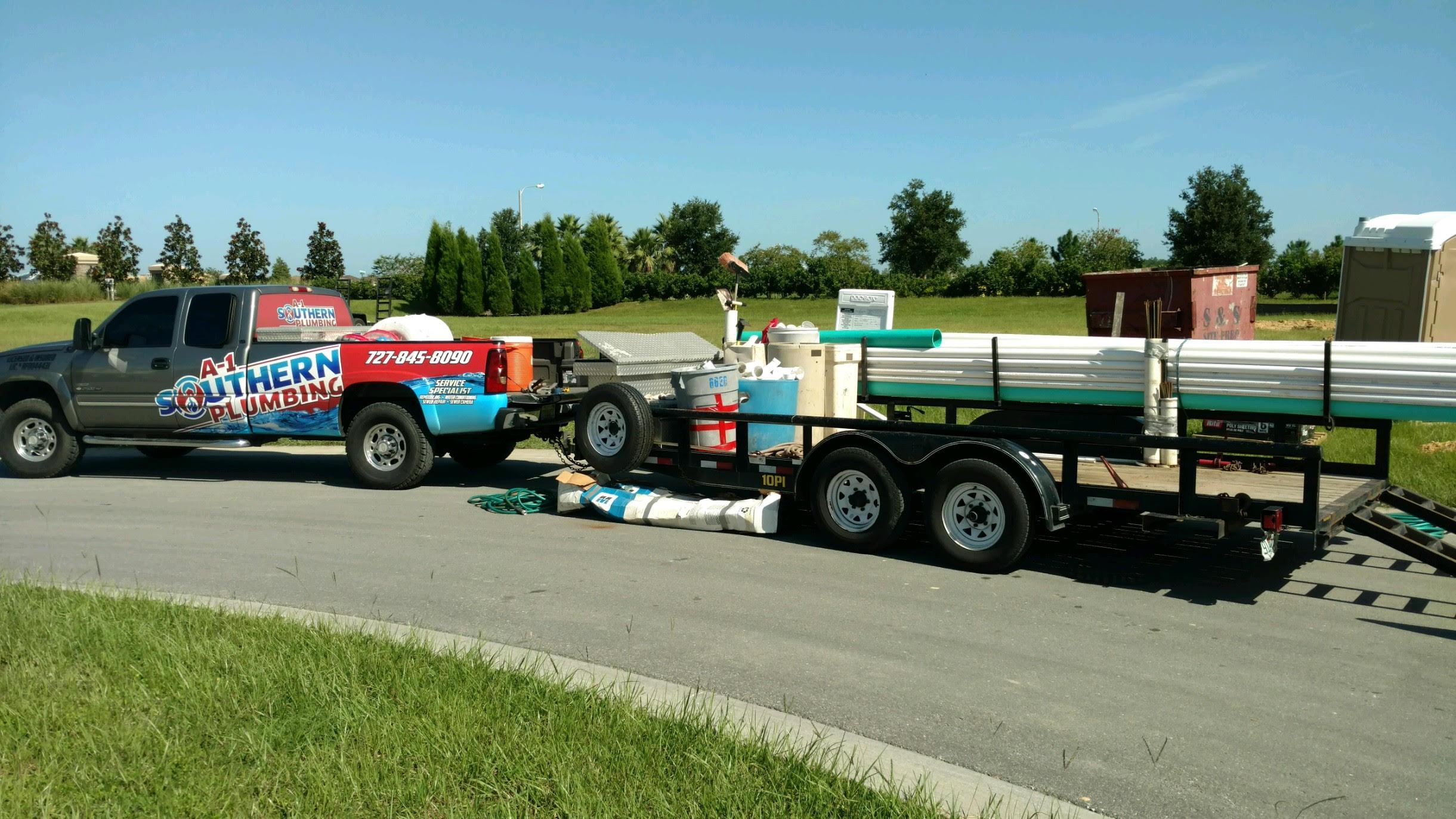 A-1 Southern Plumbing New construction Trucks